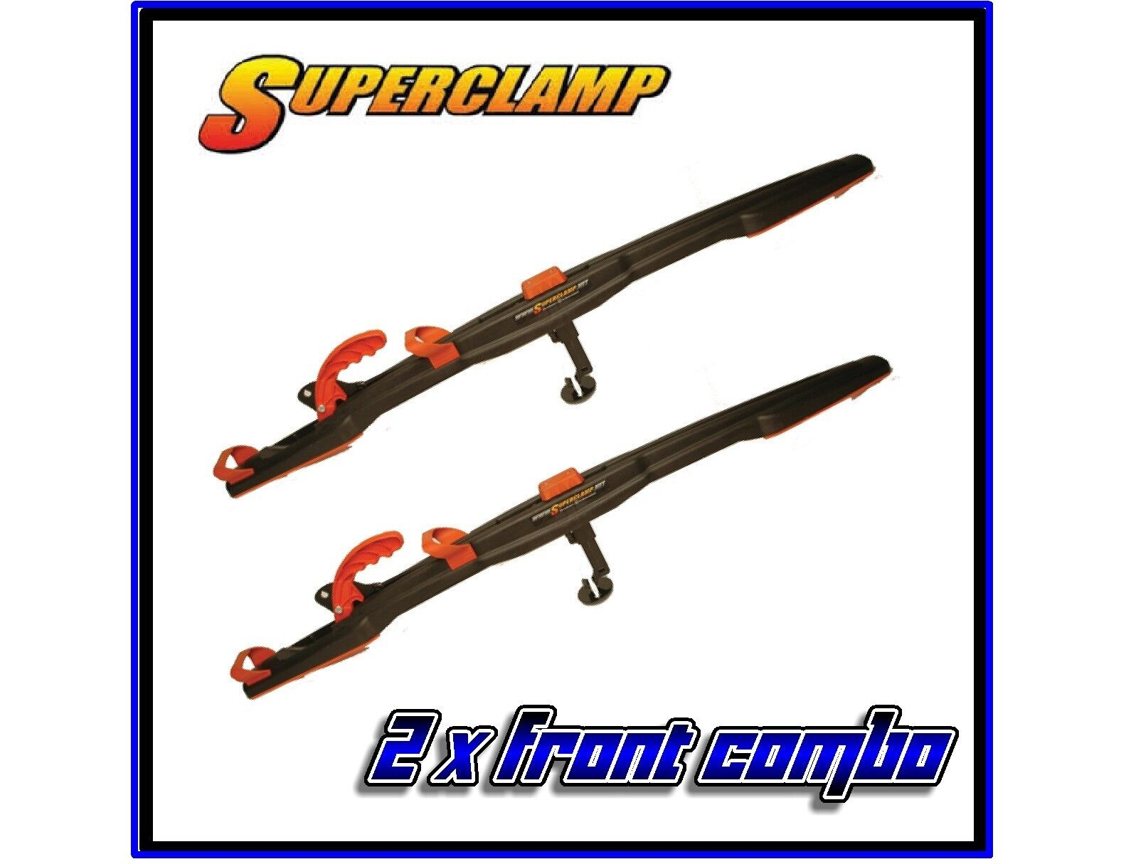 2-Super Clamp II Front Combo Snowmobile Trailer Tie Down System Superclamp