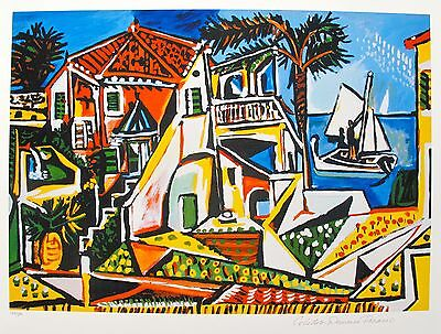 Pablo Picasso MEDITERRANEAN LANDSCAPE Estate Signed Limited Edition Art Giclee