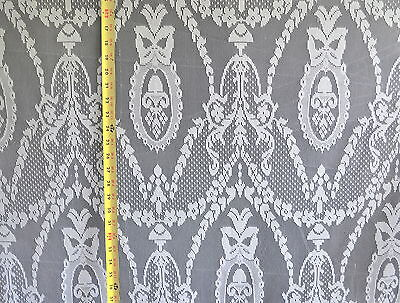 Lace Curtain & Tablecloth White 58 Wide 100% Poly Fabric By The Yard