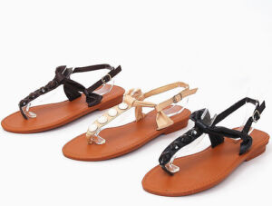 Womens-Gladiator-Sandals-Roman-Thongs-Summer-Flats-Shoe-Ankle-Straps-in-3-Colors