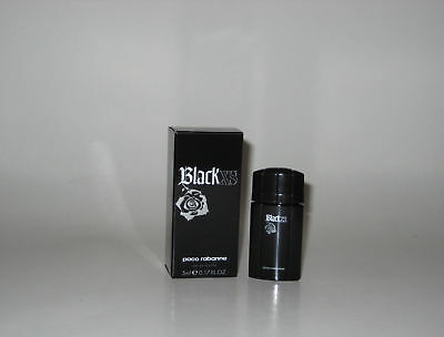 Paco Rabanne Black XS Mini Splash 0.17 Oz / 5 Ml Eau De Toilette New In Box 5ml Eau De Toilette Splash