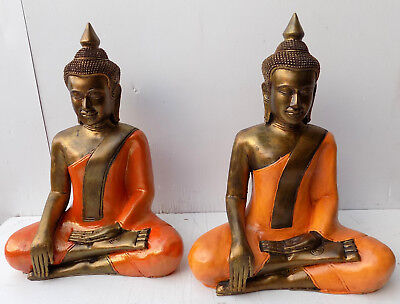 Buddha Thai CM 43 resin origin INDONESIA Shiva Ganesh divinity Gold Orange