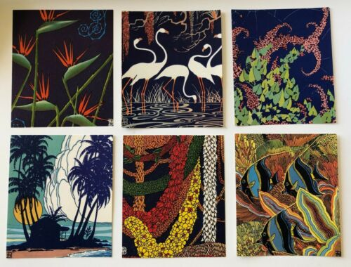 6 Vintage Hawaii Mini Prints / Book Plates by Don Blanding Hawaii