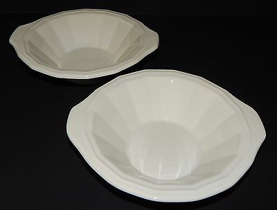 2 Homer Laughlin Classic White Colonial Dinner Cereal Soup Bowls in Dover 219992