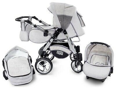 Urbano Baby Pram Pushchair Stroller 3in1 Travel system CAR SEAT included 20%OFF