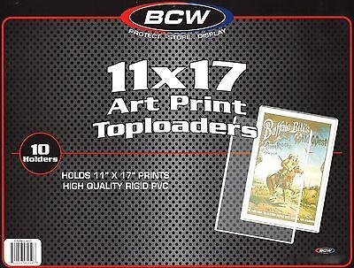 10 BCW 11X17 Art Print Toploader Poster Menu Photo Frame