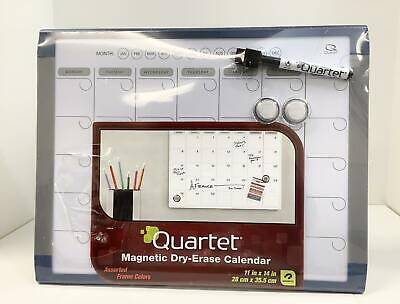 Quartet Magnetic Calendar Whiteboard 11 X 14 Dry Erase Easy Refrigerator Use
