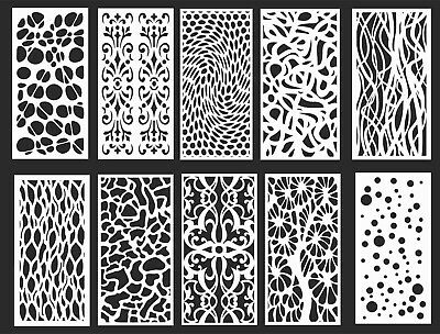 Dxf-cdr Of Plasma Laser Router Cut -cnc 10 Panel Items
