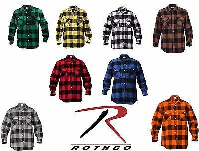 Buffalo Plaid Flannel -  Rothco 4739 Men's Brawny Buffalo Plaid Long Sleeve Flannel Shirt Heavyweight