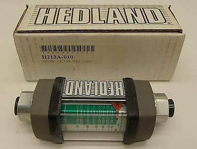 Hedland H213a-010 14 Flow Meter With 38 Tube Adapters Quick Disconect