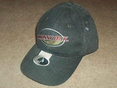 ccdb3c45775 NEW Men s MOSSY OAK Embroidered HAT   CAP Green Corduroy RED LETTERING  Hunting