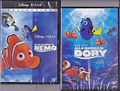 a5edf6457f721b 2 Dvd Disney ALLA RICERCA DI NEMO + ALLA RICERCA DI DORY nuovo 2003 - 2016