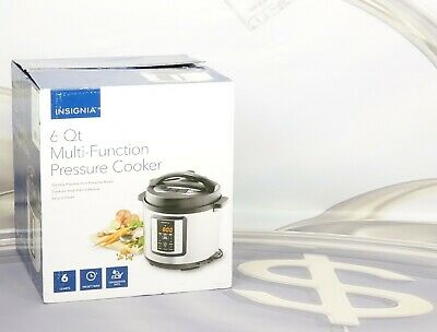 Insignia 6 Qt Multi-Function Pressure Cooker Stainless Steel NS-MC60SS9 New