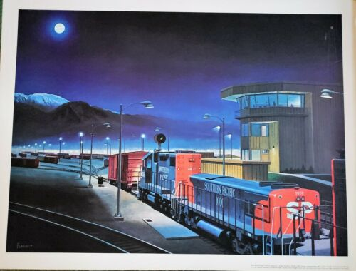Southern Pacific Railroad West Colton Freight Terminal Print by Howard Fogg