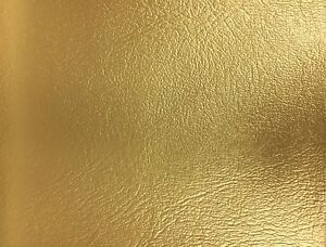 Metallic Gold Blazer Heavy Duty Commercial Faux Leather Vinyl Fabric - BTY - 54