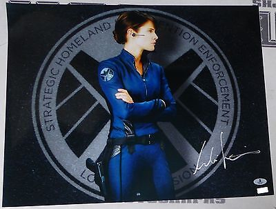 Cobie Smulders Signed 16X20 Photo Bas Beckett Coa The Avengers Agents Of Shield