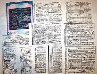 Butch Cassidy, WILD BUNCH Gang 11 DEATH CERTIFICATE Lot, Amazing Documents