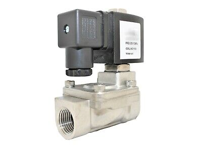 34 Stainless Steel Solenoid Valve Electric Normally Closed Water Gas Air Ro