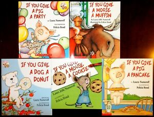 laura numeroff if you give mouse a cookie pig pancake lot set children books new