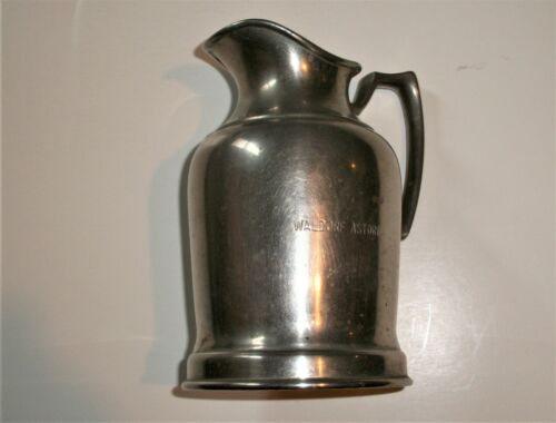 Waldorf-Astoria Wear-Brite Nickel Silver Insulated Creamer Pitcher