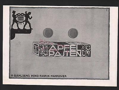 HANNOVER, Werbung 1915, H. Bahlsen Bahlsens Butter-Keks-Fabrik AG Leibniz-Keks
