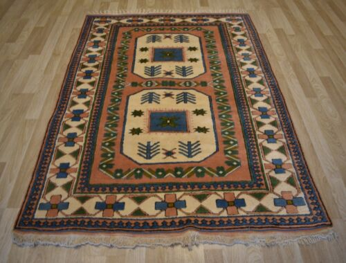 Clearance Gorgeous Vintage Caucasian Handmade Rug  6 Ft x 8 Ft  Free Shipping