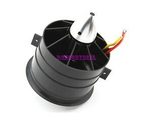 90mm Ducted Fan 11 Blades with EDF 3553 motor kv1450 for RC Aircraft Jet Plane M