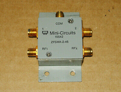 Mini-circuits Zfswa-2-46 Spdt Solid State Switch Dc-4.6 Ghz 50 Ohms Sma