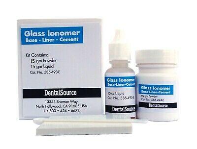 Permanent Glass Ionomer Dental Cement Crown Bridge Veneer Cure Luting Adhesive -