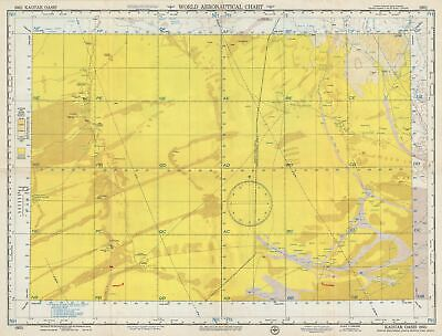 1954 U.S. Air Force Aeronautical Chart or Map of The Kaouar Oasis, Niger