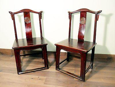 Antique Chinese High Back Chairs (Pair) (5428), Circa 1800-1849