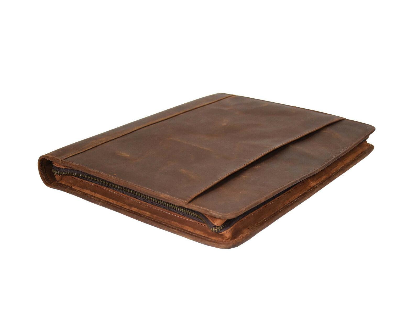 Vintage Leather Portfolio Padfolio Executive Organizer Folde