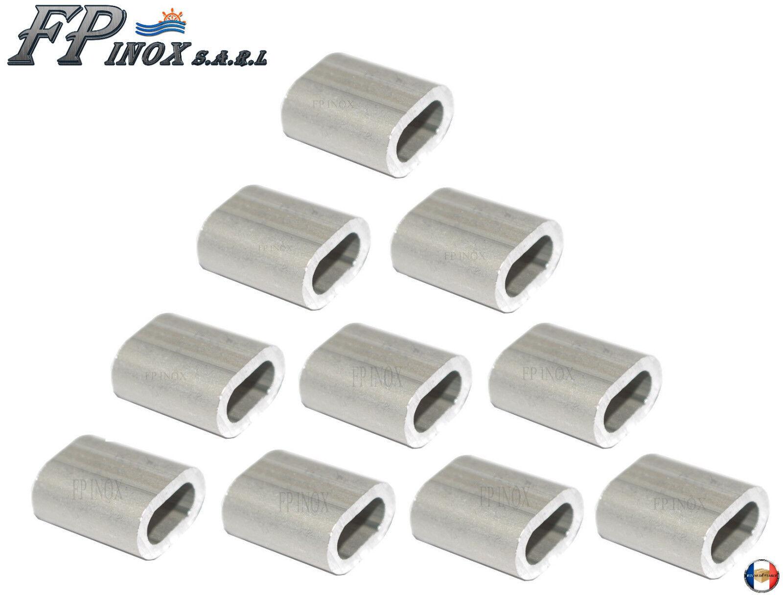 Manchon aluminium anodisé Pour Cable 5mm ( Lot de 10 )