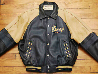 VINTAGE 1990's GUESS LEATHER JACKET COAT ULTIMATE HIPSTER XL Ultimate Leather Vest