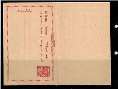 Ganzsachen Deutsches Reich Postkarte P 27 mit Antwortkarte  -int.91