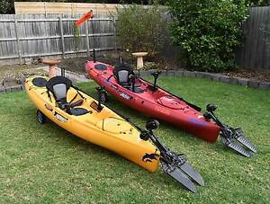 2 x Hobie Revolution Kayaks 11 & 13 and Trailer Package Deal Hampton Park Casey Area Preview