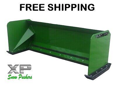 7 Xp30 John Deere Snow Pusher Box Skid Steer Loader Tractor - Free Shipping