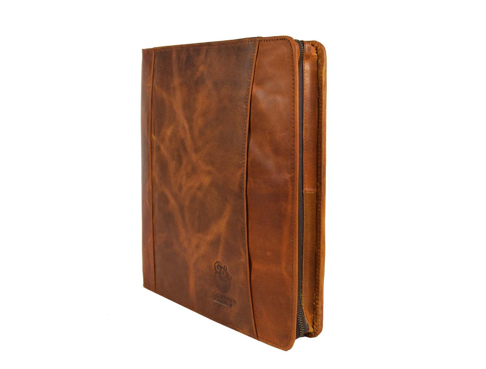 Portfolio Leather Organizer Executive A4 Folder Padfolio Zip