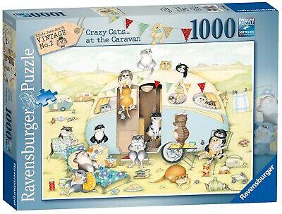 Ravensburger 1000pc Puzzle - Crazy Cats Vintage Caravan