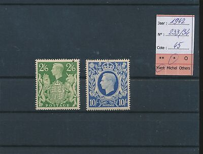 LM41953 Great Britain 1942 George VI coat of arms fine lot MH cv 45 EUR
