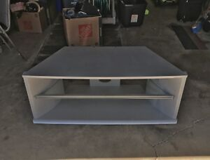 Extremely Solid TV Stand with Glass Shelve