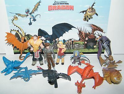 How To Train Your Dragon Figure Set Of 12 W  9 Dragons  Hiccup And More