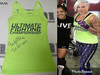 Rowdy Bec Rawlings Signed Personally Worn Used Tuf 20 Ufc Fight Shirt Bas Coa 2