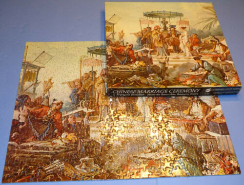 Vtg 1969 COMPLETE Assembled Springbok Chinese Marriage Ceremony Jigsaw Puzzle