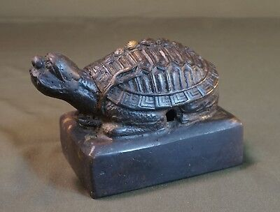 Very Rare Korean Joseon Dynasty Extra Large Tortoise Bronze Noble Seal Stamp