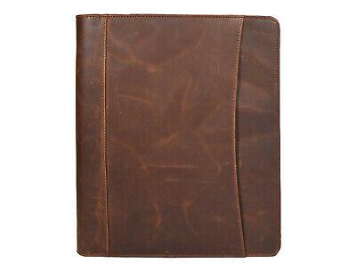 Zippered Leather Portfolio Executive Organizer Folder Case A