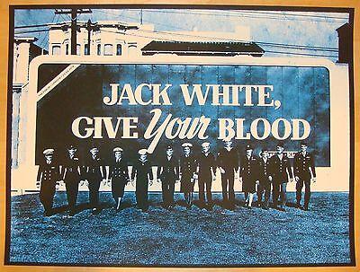 2012 Jack White - London I Concert Poster by Rob Jones S/N