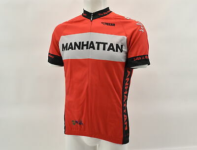 Verge Team Rebound Men/'s Classic Race L//S Lightweight Cycling Jersey Red Medium