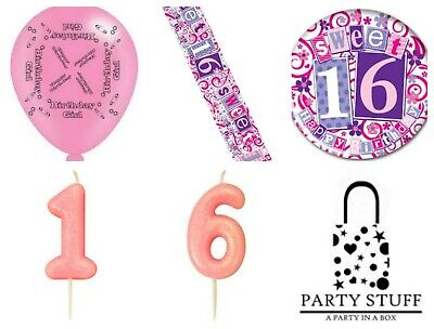 rty Decorations Girls 16th Sixteen Milestone Decorating Kit (16th Birthday Party)