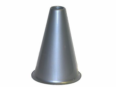 Silver Plastic Cheer Leading Megaphones, 8 Inches Tall, Mfg. USA Lead Free